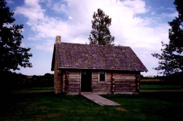 Replica of log cabin